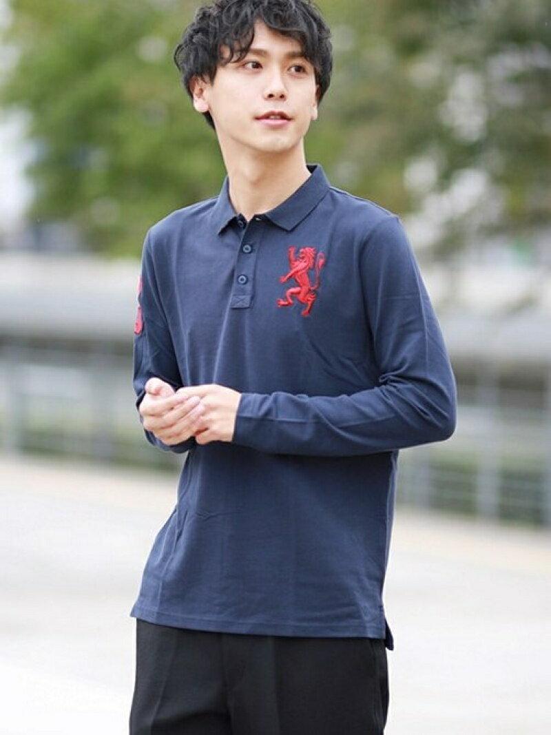 【SALE/16%OFF】GIORDANO (M)3Dライオンポロシャツ ジョルダーノ カットソー【RBA_S】【RBA_E】