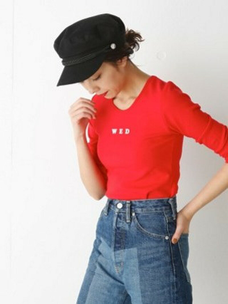 【SALE/60%OFF】SLY WEEK LOGO 7分袖 TOPS スライ カットソー【RBA_S】【RBA_E】