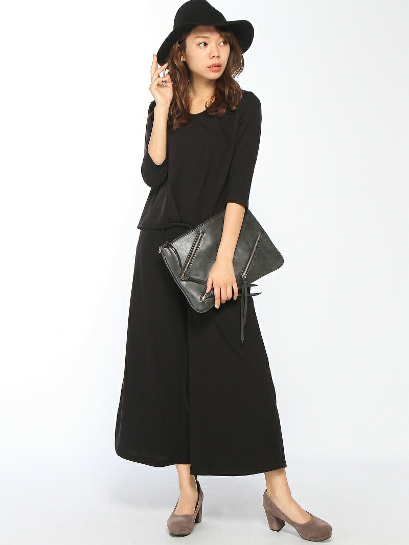 【SALE/20%OFF】CECIL McBEE Vネックカットソーセットアップ セシル マクビー カットソー【RBA_S】【RBA_E】