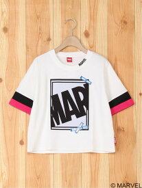 【SALE/60%OFF】MARVEL MARVEL/ショート丈Tシャツ タキヒヨーベビーアンドキッズ カットソー キッズカットソー ホワイト グレー