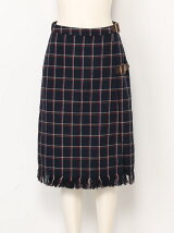 【sw】レトロチェックミディラップスカート