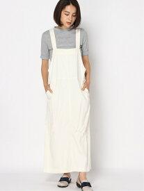 studio CLIP LブレンドジャンパーSK スタディオクリップ スカート ジャンパースカート ホワイト カーキ ベージュ【送料無料】