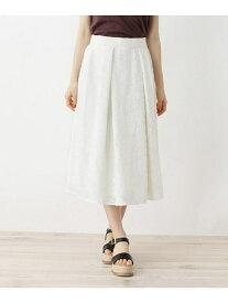 【SALE/60%OFF】OPAQUE.CLIP 【洗える】フラワーカットジャカードスカート オペークドットクリップ スカート スカートその他 ホワイト ブラック