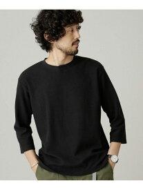 【SALE/30%OFF】nano・universe 七分袖ワイドシルエットTシャツ ナノユニバース カットソー Tシャツ ブラック ブラウン パープル ホワイト