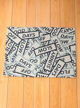BRID/BLOCK MESSAGE RUG 50×70 BL/ブルー