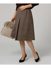 UNTITLED ウール混ヘリンボンスカート アンタイトル スカート スカートその他 ブラウン ネイビー【送料無料】