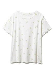 【SALE/30%OFF】gelato pique フルーツモチーフTシャツ ジェラートピケ インナー/ナイトウェア ルームウェア/トップス ホワイト イエロー