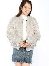 【安井レイさん着用】リバーシブルフェイクファーブルゾン