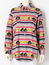 ウォッシュ オルテガ パターン ビッグ シャツ