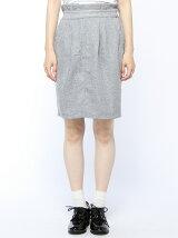 【mystic】起毛ジャガードウエストフリルタイトスカート