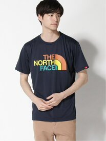 THE NORTH FACE ザノースフェイス/THE NORTH FACE/(M)S/S カラフルロゴティー コウジツサンソウ カットソー Tシャツ ネイビー グリーン ブラック ホワイト グレー【送料無料】
