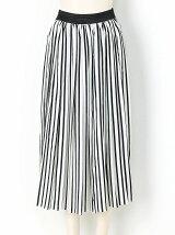 プリーツストライプスカート