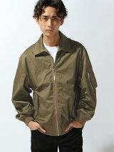 【WEGO】【BROWNY】(M)ストレッチサテンボンバージャケット