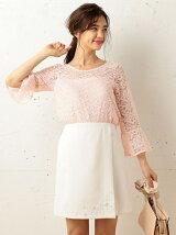 刺繍台形ミニスカート