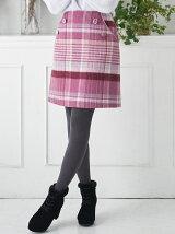 BIGチェック台形ミニスカート