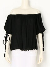 YORYU CHIFFON OFF SHOULDER BLOUS