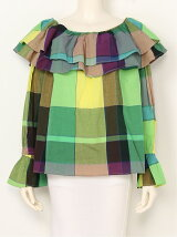 GRADATION CHECK 2WAY TUNIC