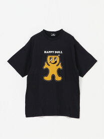 HYSTERIC GLAMOUR HYSTERIC GLAMOUR/(M)HAPPY DOLL Tシャツ ヒステリックグラマー カットソー Tシャツ グレー ブラウン ホワイト【送料無料】