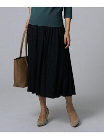 UNTITLED 【洗える】ヴィンテージテイストスカート アンタイトル スカート ロングスカート ブラック グリーン ベージュ【送料無料】