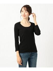 【SALE/50%OFF】any FAM 【洗える】バックレーステレコトップス エニィファム カットソー Tシャツ ブラック ホワイト ブラウン