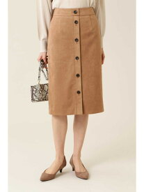 【SALE/70%OFF】NATURAL BEAUTY BASIC [洗える]フェイクスエードフロントボタンタイトスカート ナチュラルビューティベーシック スカート スカートその他 ベージュ ブルー