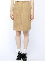 【mystic】ウールフリンジタイトスカート