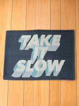 BRID/TAKE IT SLOW RUG 50×70 NV/ブルー