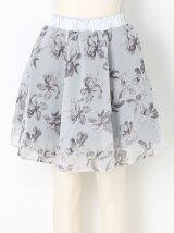 花柄シフォンフレアスカート