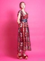 リブニットキャミドレス