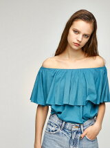 CUT FRILL 2WAY TOPS