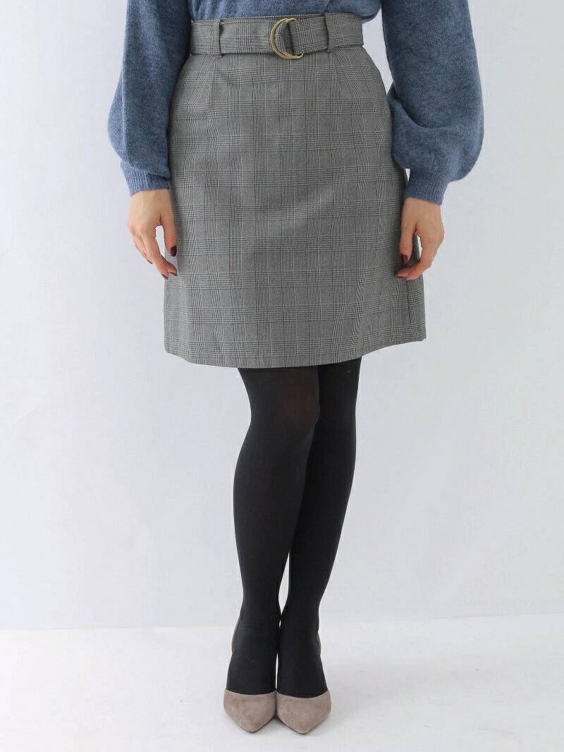 【SALE/80%OFF】グレンチェック台形スカート アースミュージック&エコロジー スカート【RBA_S】【RBA_E】
