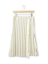 カノコストライプラップ風ミディスカート