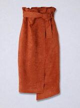 【予約販売】ラップ風ハイウエストスカート