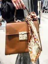 【SHIMOSHIMO】スカーフ付ハンドルバッグ