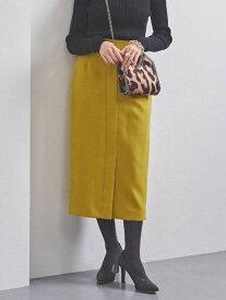 【SALE/30%OFF】UNITED ARROWS UBCBツイルフロントベントタイトスカート ユナイテッドアローズ スカート ロングスカート イエロー ホワイト ブラウン【送料無料】
