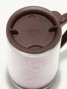 線画フラワー柄スリムマグカップ