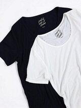 RネックBカットTシャツ