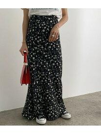 ROPE' mademoiselle ヴィンテージライクフラワーマーメイドスカート ロペ スカート スカートその他 ブラック ブラウン レッド【送料無料】