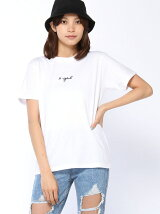 EMBROIDERED CURSIVE LOGO S/S TEE