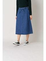 《Leeコラボ》Aラインデニムスカート