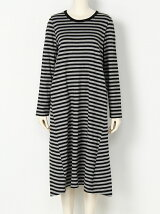 STRIPED L/S DRESS