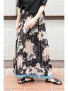 《杉本美穂着用》◆裾ラインフラワープリーツスカート フリーズ マート スカート【送料無料】