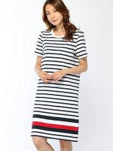 (W)ボーダープルオーバードレス