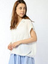 前タック抜き衿シャツ