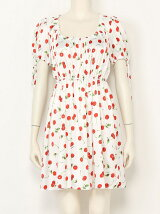 ACID CHERRY puff dress