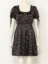ACID CHERRY puff dress