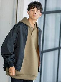 coen リラックスミリタリーブルゾン(MA-1) コーエン コート/ジャケット ブルゾン ブラック グレー【送料無料】