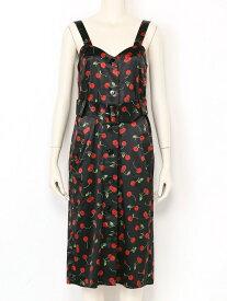 【SALE/57%OFF】Katie ACID CHERRY wanda dress ケイティ ワンピース ノースリーブワンピース ブラック ホワイト【送料無料】
