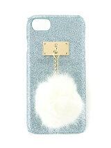 【JUNIOR SWEET】(L)ポンポン付ラメiPhone6/7ケー
