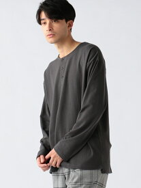 【SALE/60%OFF】B:MING by BEAMS B:MING by BEAMS / オープンエンド ヘンリーネック スウェットシャツ BEAMS ビームス ビーミング ライフストア バイ ビームス カットソー Tシャツ ブラック ホワイト カーキ